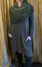 Load image into Gallery viewer, Soft Fine Knit Jumper/Dress with Tassel Snood