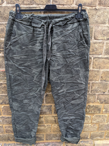 Super Stretch 'Magic' Trousers in  Camo Print