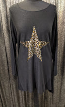Load image into Gallery viewer, Made In Italy Soft Brushed Tunic with Foil Leopard Star