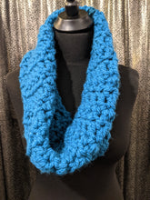 Load image into Gallery viewer, Large Snood -  Hand Crochet Neck Warmer/Scarf - Petrol