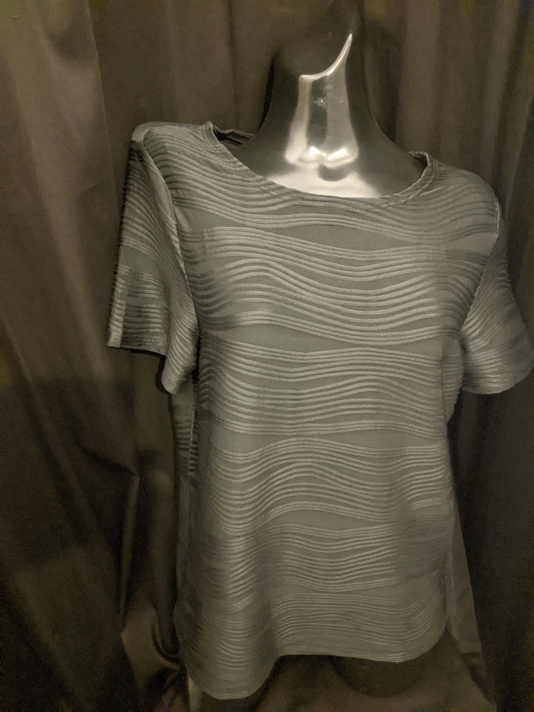 Casamia Short Sleeve Top  with Textured Wave