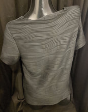 Load image into Gallery viewer, Casamia Short Sleeve Top  with Textured Wave