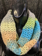 Load image into Gallery viewer, Hand Crochet Neck Warmer/Scarf - Graduated Shades