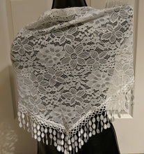 Load image into Gallery viewer, SCARF WHITE LACE