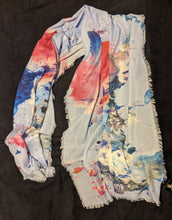 Load image into Gallery viewer, Large Scarf/Wrap with Watercolour Splash Print