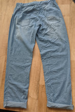 Load image into Gallery viewer, Lightweight Denim Look Drawstring Trousers - Faded Look For Size 14 to 22