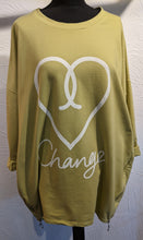 Load image into Gallery viewer, 'Love' Change Made in Italy Sweater Tunic with Side Zips