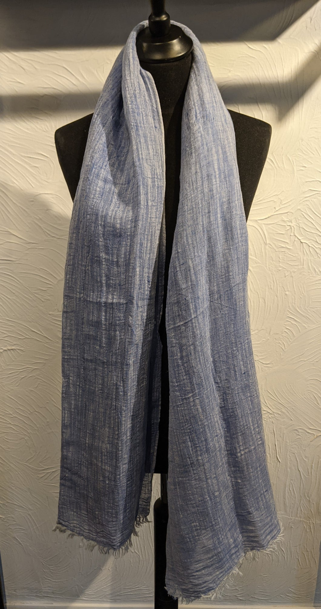 LINEN SCARF - Chambray Effect
