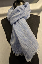 Load image into Gallery viewer, LINEN SCARF - Chambray Effect