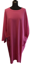 Load image into Gallery viewer, Italian Lightweight Sweatshirt Dress with Patch Pockets