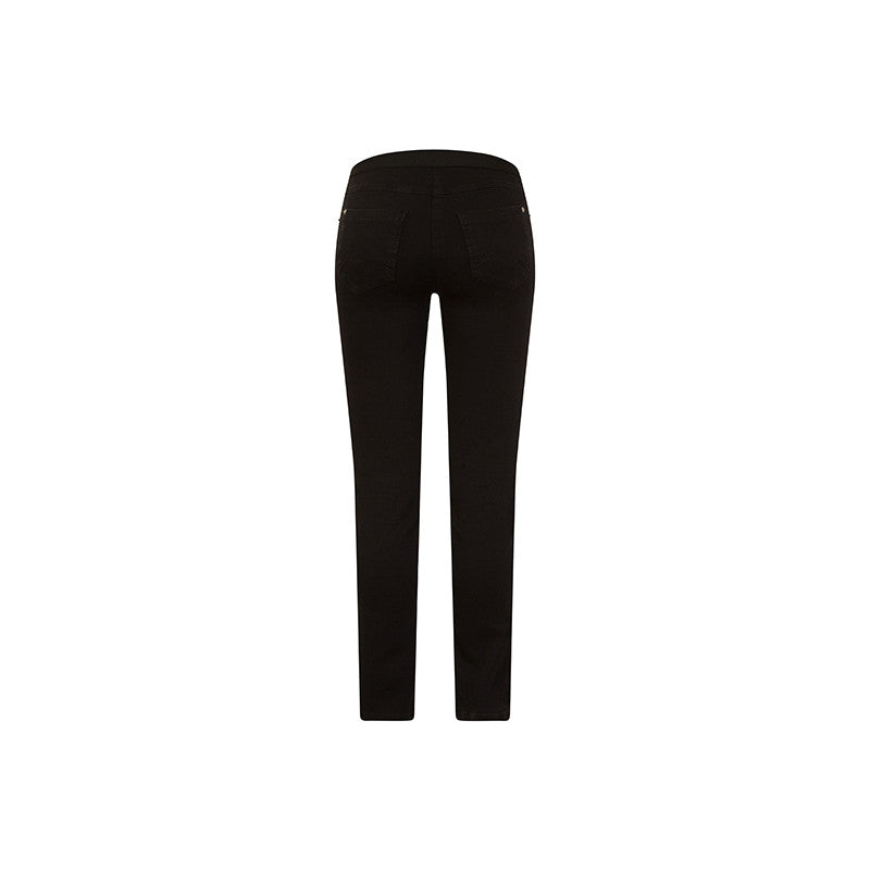Robell Rose Bengaline Trousers With Back Pockets - Super Slim Leg
