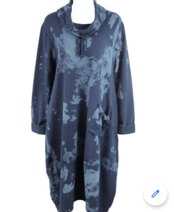 Italian Heavy Cotton Tunic/Dress - Splash Print