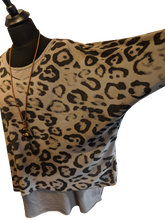 Load image into Gallery viewer, 2 Piece Top Set with Animal Print - Lightweight with Necklace