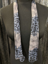 Load image into Gallery viewer, Small Scarf with Reptile and Leopard Print in Sheer Viscose