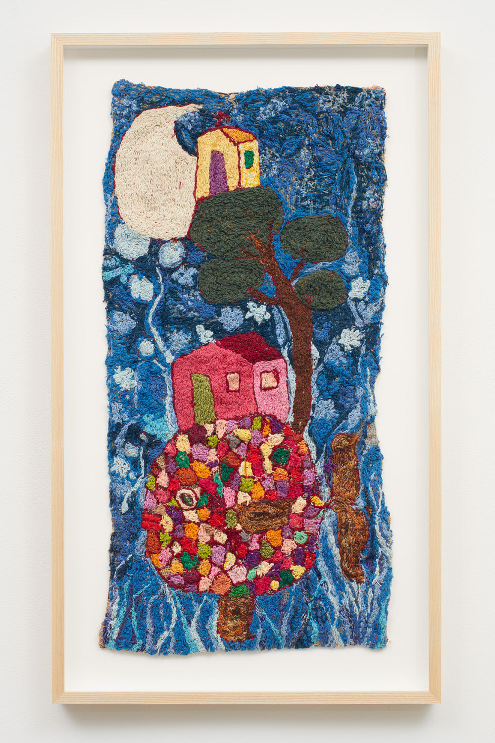 Untitled (Fish, tree, houses and moon)