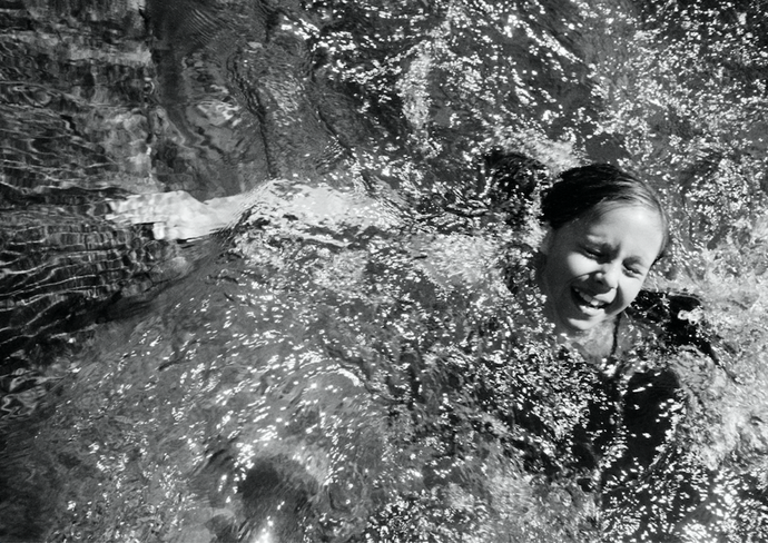 Girl Swimming. Yuba River