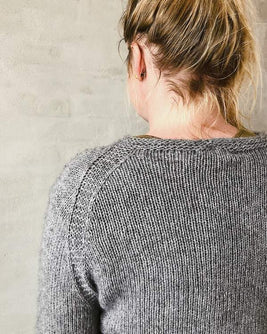 Ahhhh mink, lovely and soft grey sweater with lace edge