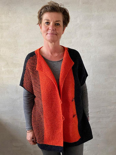 Avenue vest by Hanne Falkenberg, knitting kit Knitting kits Hanne Falkenberg