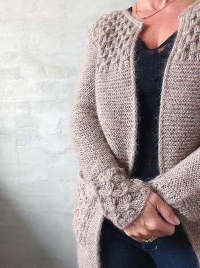 Beatrice cardigan, knit in Isager Alpaca and Silk Mohair - Önling Nordic knitting patterns and yarn