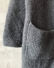 Cardigan at large needles, cozy grey cardigan with pockets - Önling Nordic knitting patterns and yarn