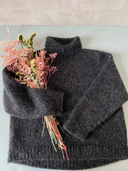 Chunky Easy Peasy sweater, No 1 + silk mohair knitting kit Knitting kits Önling - Katrine Hannibal