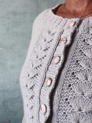 Clara cardigan, knit in Önling No 1 merino/angora - Önling Nordic knitting patterns and yarn