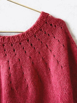 Knitting kit for Easy Peasy Basic Sweater in Önling No 1, merino wool and angora, in pink