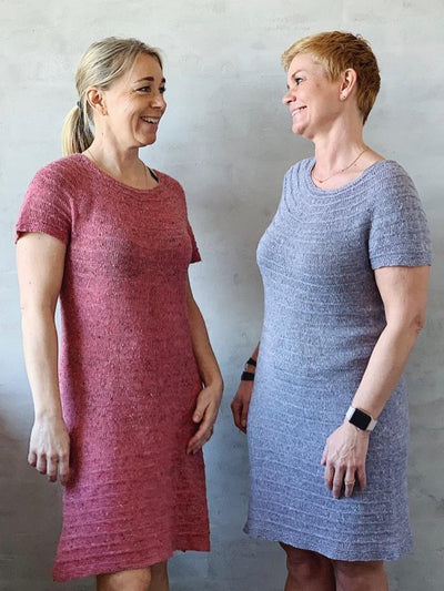 Erika dress, summer dress knit in silk, merino and linen - Önling Nordic knitting patterns and yarn
