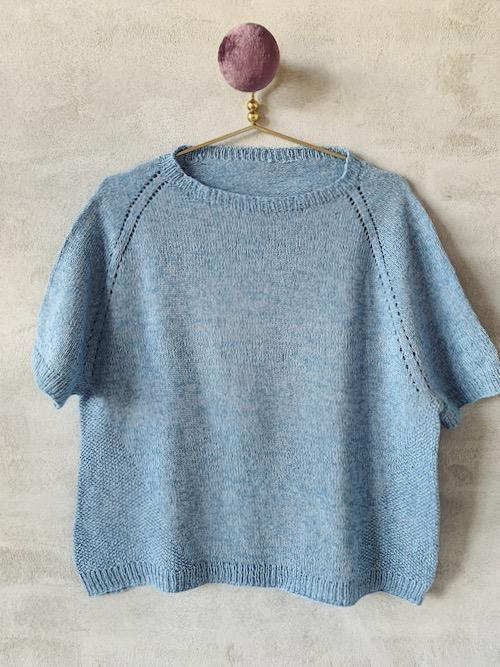 Freja summer T-shirt, Everyday knitting kit