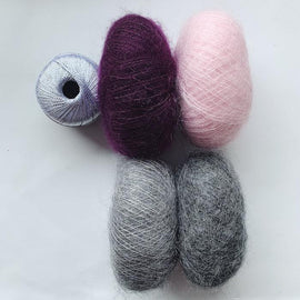 Ingrid cardigan (long version), mohair kit Knitting kits Önling - Katrine Hannibal Kit 9