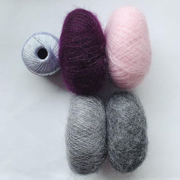 Ingrid cardigan (short version), mohair kit Knitting kits Önling - Katrine Hannibal Kit 9