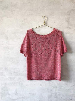 Iris summer top, summer knit with silk yarn - Önling Nordic knitting patterns and yarn