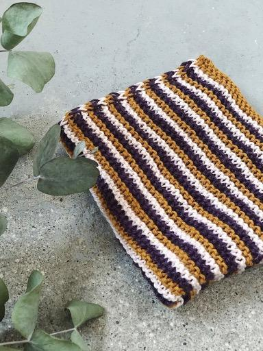 Katrine's 3 favourite dishcloths, organic yarn knitting kit