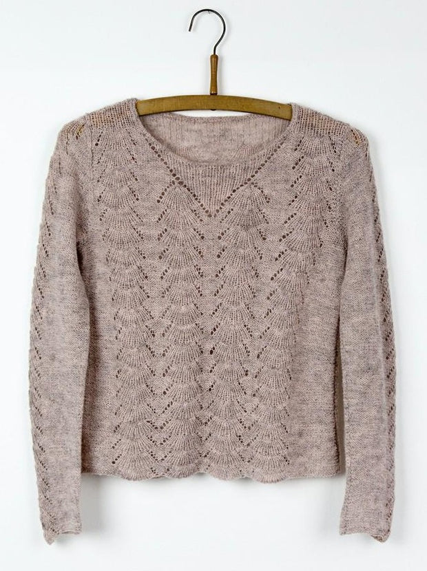 Lace sweater, Isager knitting kit