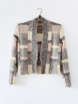 Manchuria knitted jacket designed by Helga Isager, knitted in Isager Spinni and Silk Mohair yarn