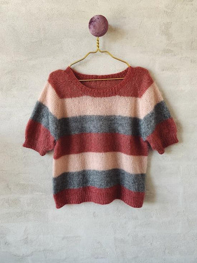 Knitting pattern for Molly Mohair Tee with stripes, in Önling No 10 silk mohair.