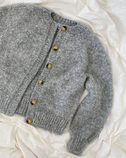 Novice Cardigan Chunky from PetiteKnit, No 1 + Silk Mohair knitting kit