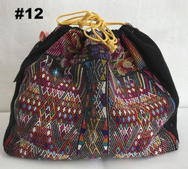 Knitting project bag with embroidery, no 12