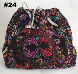 Knitting project bag with embroidery, no 24