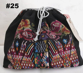 Knitting project bag with embroidery, no 25