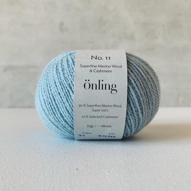 Önling No 11, sustainable merino/cashmere yarn in Baby blue pastel