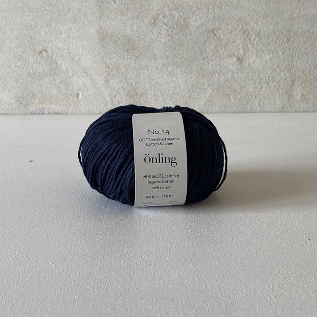 Önling No 14, GOTS-certified organic cotton/linen yarn Yarn Önling Dark blue (31)