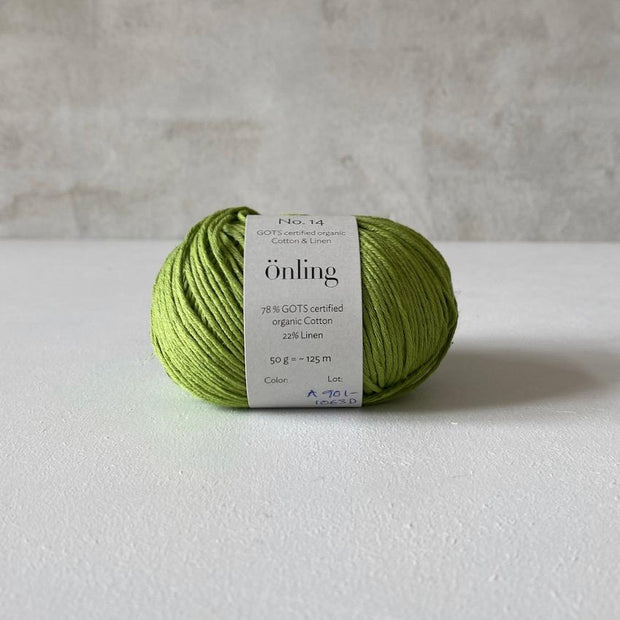 Önling No 14, GOTS-certified organic cotton/linen yarn, light green