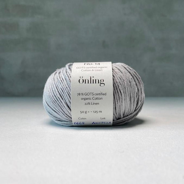 Önling No 14, GOTS-certified organic cotton/linen yarn Yarn Önling Light grey (668)