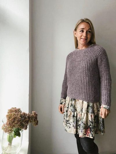 Petra brioche sweater, knitting pattern Knitting patterns Önling - Katrine Hannibal