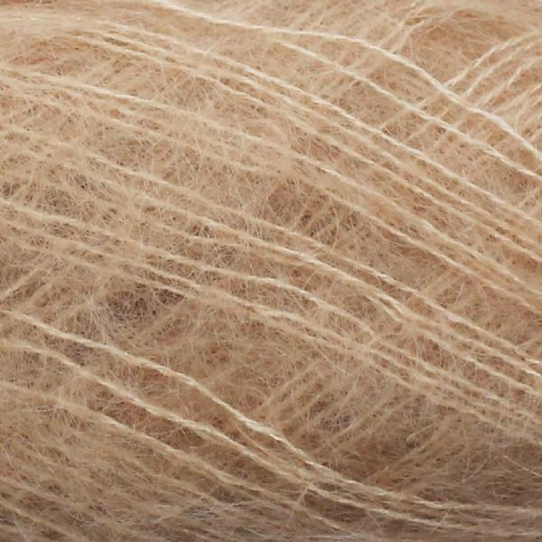 Isager Silk Mohair color 6 beige, 70% Super Kid Mohair and 30% Silk
