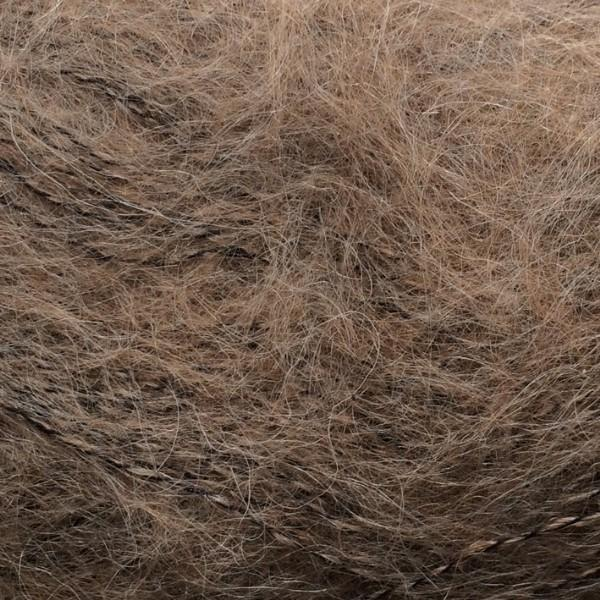 Isager Silk Mohair color 7m brown, 70% Super Kid Mohair and 30% Silk
