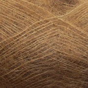 Isager Silk Mohair color 63 light brown, 70% Super Kid Mohair and 30% Silk