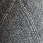 Isager Silk Mohair color 3m light grey, 70% Super Kid Mohair and 30% Silk