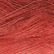 Isager Silk Mohair color 28 red, 70% Super Kid Mohair and 30% Silk
